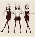 fashion woman hand drawn vector image