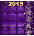 2015 New Year Calendar vector image vector image