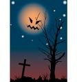 halloween night scene vector image