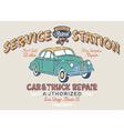 Vintage gasoline service station vector image