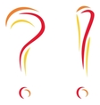 question and interjection vector image vector image
