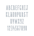 Volume set of letters and numbers handmade Sketch vector image