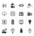 Black electricity power and energy icons vector image vector image