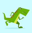 green dino in action 01 vector image vector image