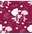 Seamless pattern with rose14 vector image