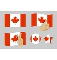 Canada flag icons set vector image