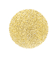 Circle with gold glitter particles on white vector image