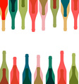 Background glass of alcohol vector image