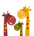 Cute giraffe family vector image vector image