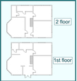 Abstract plan of the first and second floors vector image