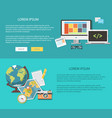 flat design work and vacation vector image