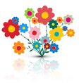 Flowers Flower Cartoon Retro Colorful Flow vector image