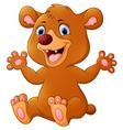 Funny Bear cartoon vector image