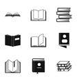 manual icons set simple style vector image