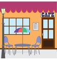 outside cafe shop vector image