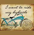 retro bicycle postersbike printing vector image