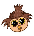 set isolated emoji character cartoon cute owl vector image