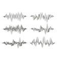 set of sound waves vector image