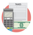taxation icon app flat vector image