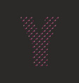 y dotted alphabet letter isolated on black vector image