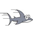 Small shark cartoon vector image