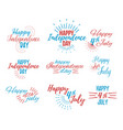 happy 4 th july and independence day vector image