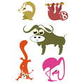 cartoon funny animals 5 vector image vector image