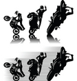 motorbike freestyle vector image