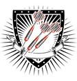 darts shield vector image