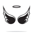 Angel wings icon1 vector image