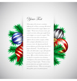 christmas design template vector image vector image