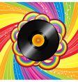 rainbow vinyl vector image vector image