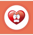 Flat of cartoon face design heart vector image