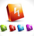 arrow 3d icon shape vector image