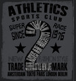 athletic sport tee graphic vector image
