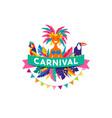 brazilian carnival poster vector image