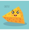 cartoon cheese design isolated vector image