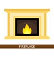 fireplace icon isolated vector image