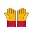 gloves flat vector image