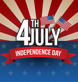 Independence day poster vector image