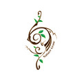 logo symbol nature grow vector image