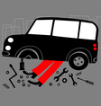mechanic and broken car vector image