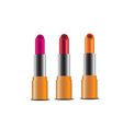 Red Pink Orange lipsticks icon set vector image