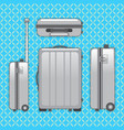 traveller luggage bag vector image