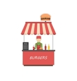 Street shop burgers  Fast food kiosk vector image