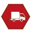fast food delivery emblem icon vector image