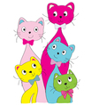 cats 2 vector image