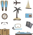 Set of travel icons vector image