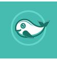 whale emblem vector image vector image