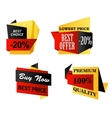 Origami business labels vector image vector image